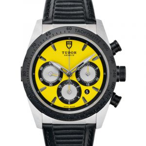 Fastrider Chrono Steel Automatic Yellow Dial Men's Watch
