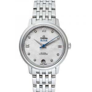 De Ville Prestige Co-Axial 32.7 mm Orbis Automatic White Dial Diamonds Ladies Watch