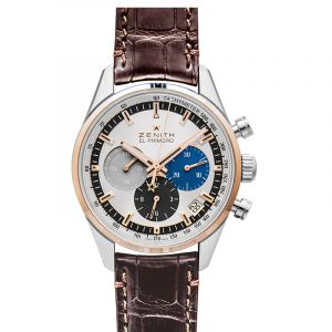 El Primero Chronomaster 38 Stainless Steel / Rose Gold / Silver / Alligator