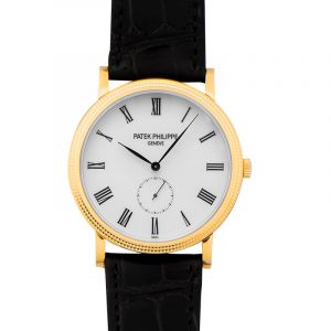 Calatrava Mechanical White Dial Men's Watch/36mm