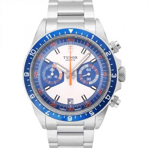 Heritage Chronograph Blue and Silver Dial Men's Watch