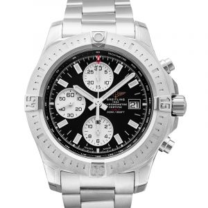 Colt Chronograph Automatic Stainless Steel / Volcano Black / Bracelet