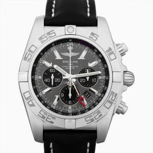 Chronomat 47 GMT Stainless Steel / Blackeye Gray