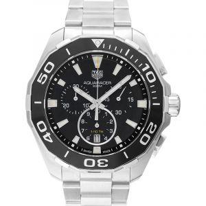Aquaracer Quartz Chronograph Black Dial Men's Watch