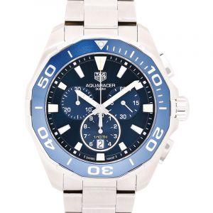 Aquaracer Quartz Chronograph Blue Dial Men's Watch