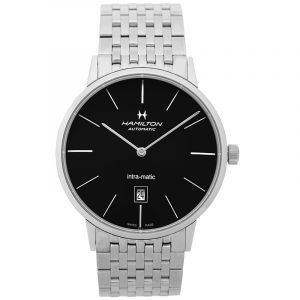 HAMILTON Timeless Classic Intra-Matic Black Dial Stainless Steel Men's Watch/42mm