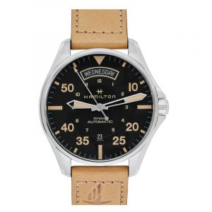Khaki Aviation Automatic Black Dial Stainless Steel Men's Watch