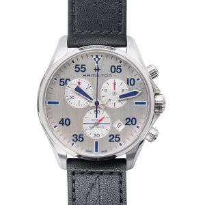 Khaki Aviation Quartz Silver Dial Stainless Steel Men's Watch