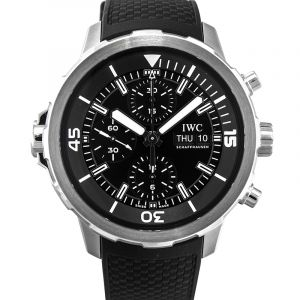 Aquatimer Chronograph Automatic Black Dial Men's Watch
