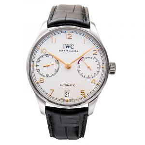 IWC Portugieser Automatic Silver Dial Men's Watch IW500704