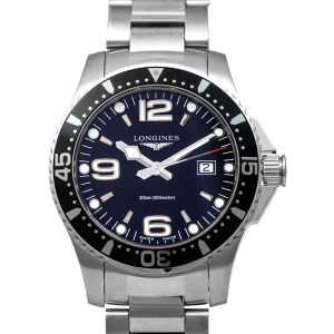 HydroConquest Quartz Black Dial Men's Watch
