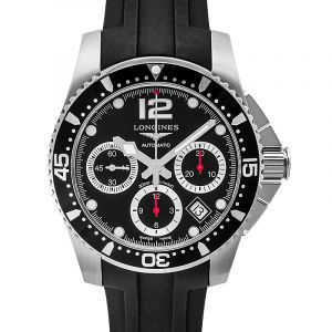 HydroConquest Chronograph Black Dial Men's Watch