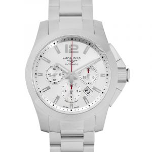 LONGINES Conquest Automatic Chronograph White Dial Men's Watch/44mm