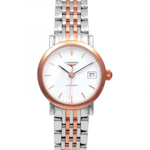 Elegant Automatic White Dial Ladies Watch