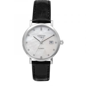Elegant Automatic Mother of Pearl Dial Diamond Ladies Watch