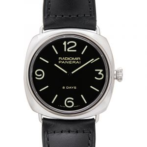 Radiomir 8 Days Manual-winding Black Dial 45 mm Men's Watch