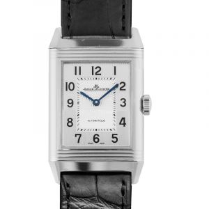 Reverso Classic Large Stainless Steel / Silver / Alligator