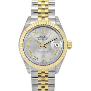 Lady-Datejust 28 Sliver 18k Yellow Gold/Steel 28mm Jubilee