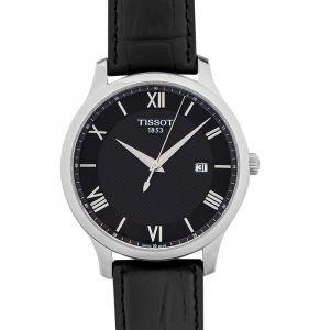 T-Classic Quartz Black Dial Men's Watch
