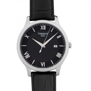 T-Classic Tradition Quartz Black Dial Men's Watch