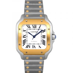 Cartier Santos Automatic Steel & Gold Unisex Watch/35mm