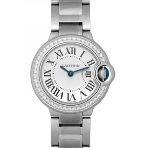 Ballon Bleu de Cartier 28 mm Quartz White Dial Stainless Steel Ladies Watch