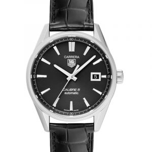 Carrera Calibre 5 Automatic Black Dial Men's Watch