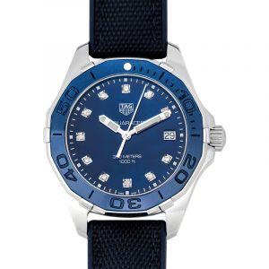 Aquaracer Quartz Blue Mother of Pearl Dial with Diamonds Ladies Watch
