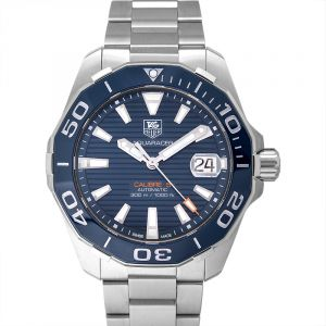 Aquaracer Automatic Navy Blue Dial Men's Watch