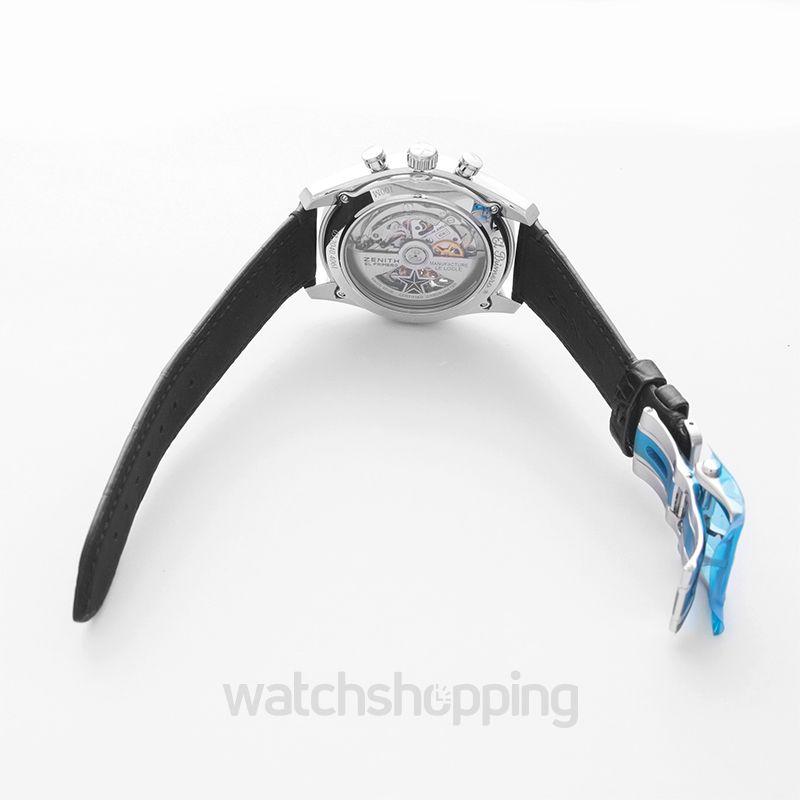 El Primero Chronomaster Open Stainless Steel / Blue 1969 / Alligator