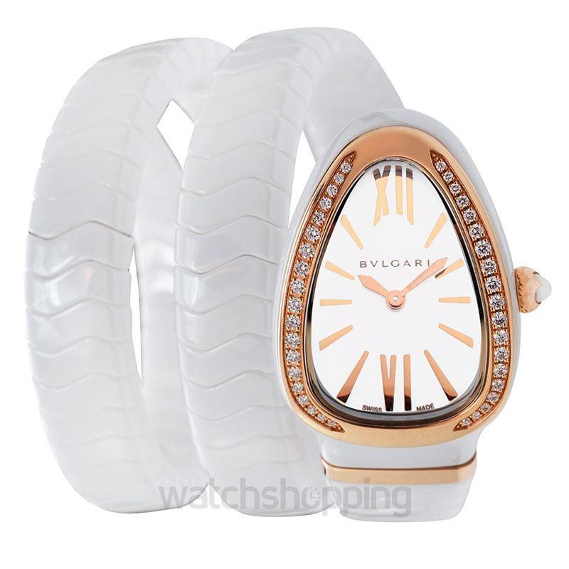 52db82cf45f73 Bvlgari Bvlgari Serpenti Spiga White Lacquered Dial Ladies Watch image 1 ...