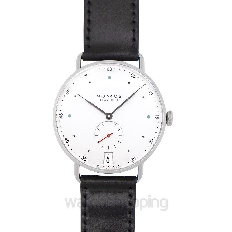 Nomos Glashütte Metro 38 Date Manual-winding White Dial 38.5mm Men's Watch