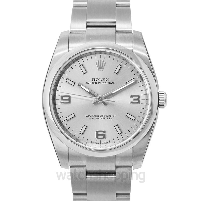 Rolex Oyster Perpetual 34 Silver Explorer
