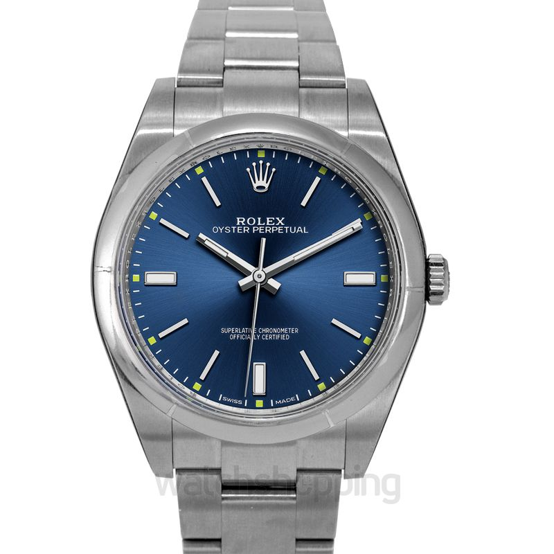 Rolex Oyster Perpetual Automatic Blue Dial Men's Watch