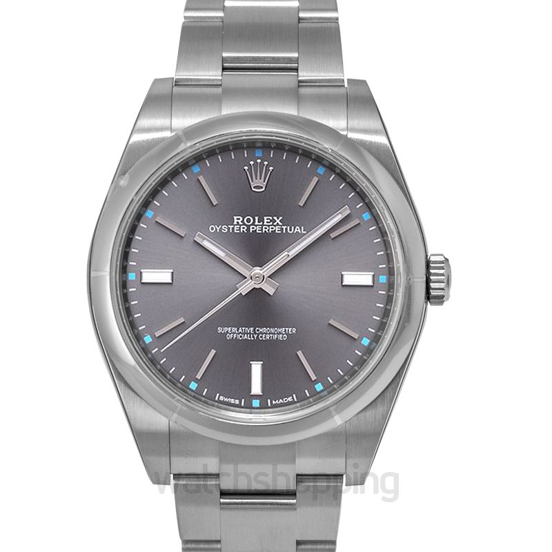 Rolex Oyster Perpetual Automatic Grey Dial Unisex Watch