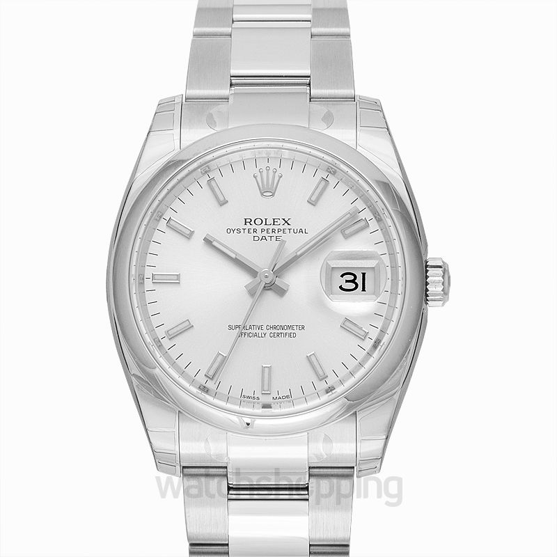 Rolex Oyster Perpetual Date 34 Stainless Steel Domed / Oyster / Silver
