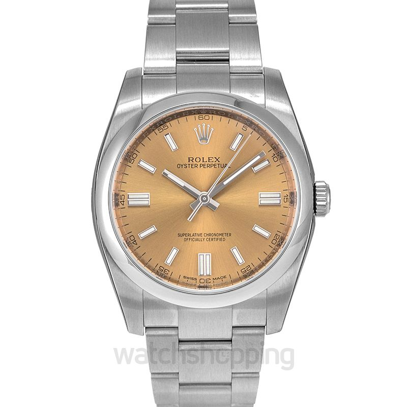 Rolex Rolex Oyster Perpetual 36 mm White Grape Dial Stainless Steel Bracelet Automatic Men's Watch 116000WGSO