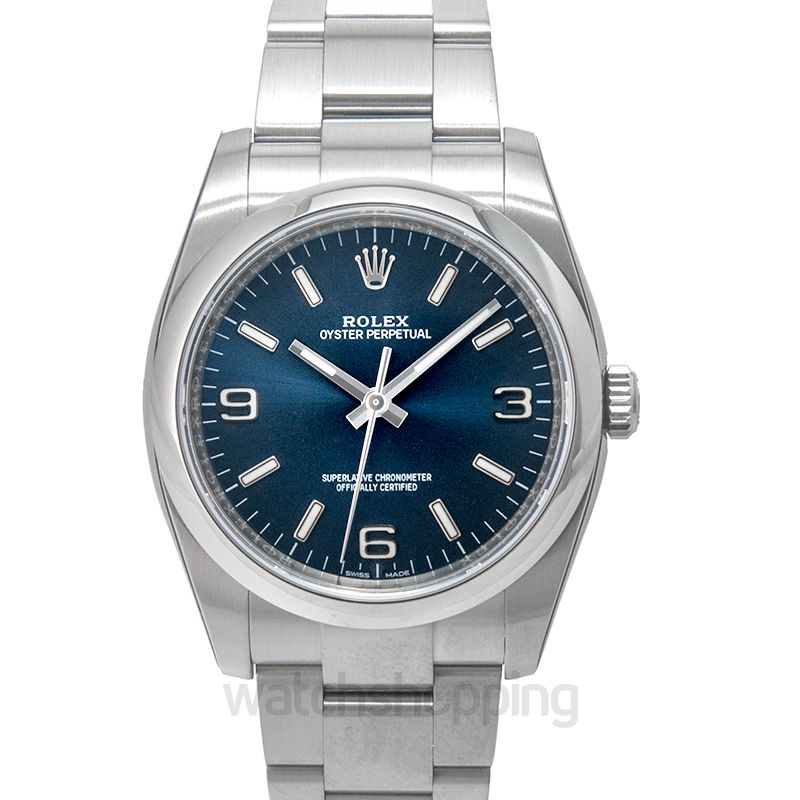 Rolex Oyster Perpetual Automatic Blue Dial Unisex Watch