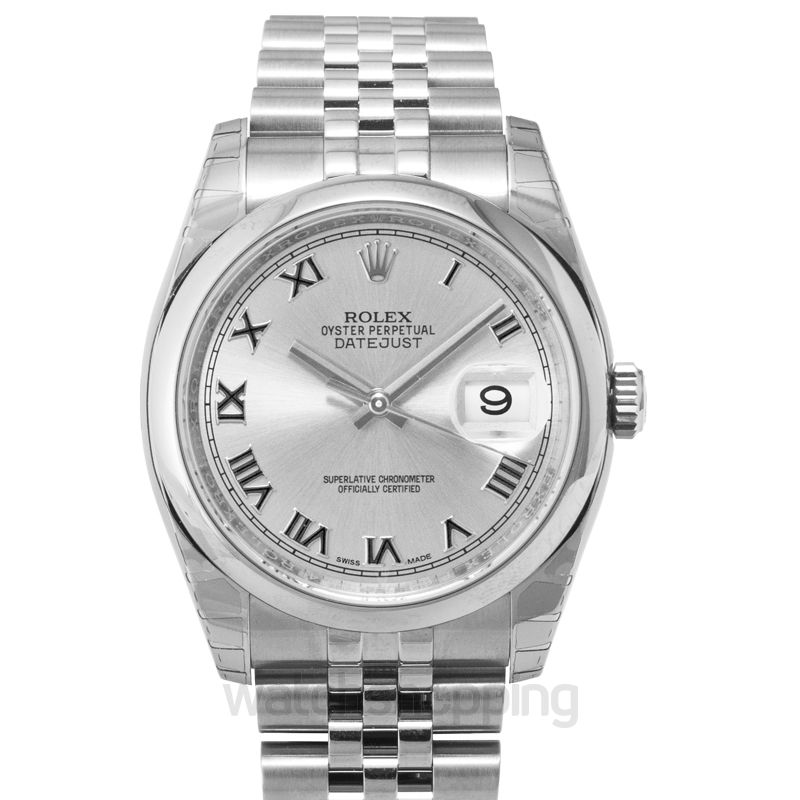 Rolex Datejust 36 Stainless Steel Domed / Jubilee / Rhodium Roman