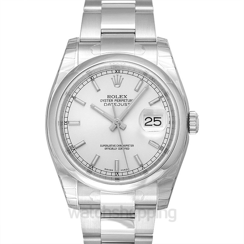 Rolex Datejust 36 Stainless Steel Domed / Oyster / Silver