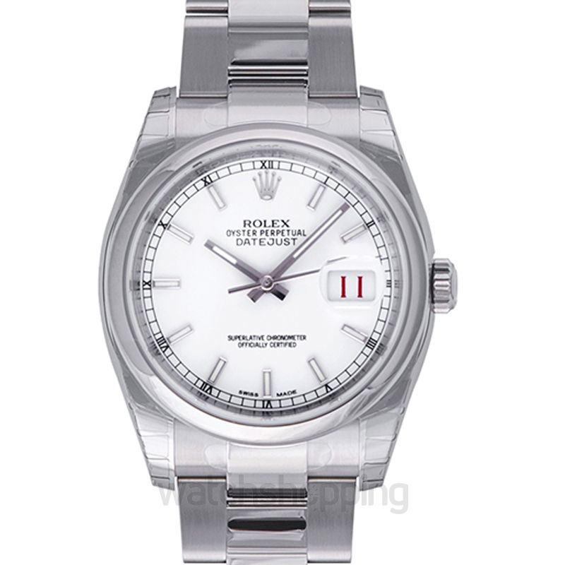 Rolex Datejust 36 Stainless Steel Domed / Oyster / White
