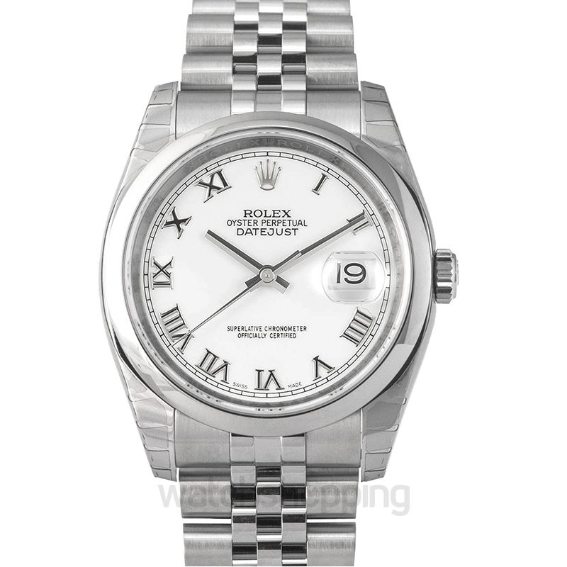 Rolex Datejust 36 Stainless Steel  Domed / Jubilee / White Roman