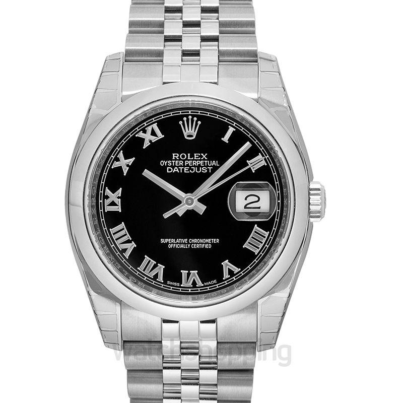 Rolex Rolex Datejust 36 Black Dial Stainless Steel Jubilee Bracelet Automatic Men's Watch 116200BKRJ