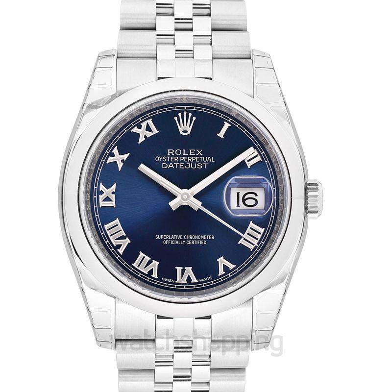 Rolex Rolex Datejust 36 Blue Dial Stainless Steel Jubilee Bracelet Automatic Men's Watch 116200BLRJ