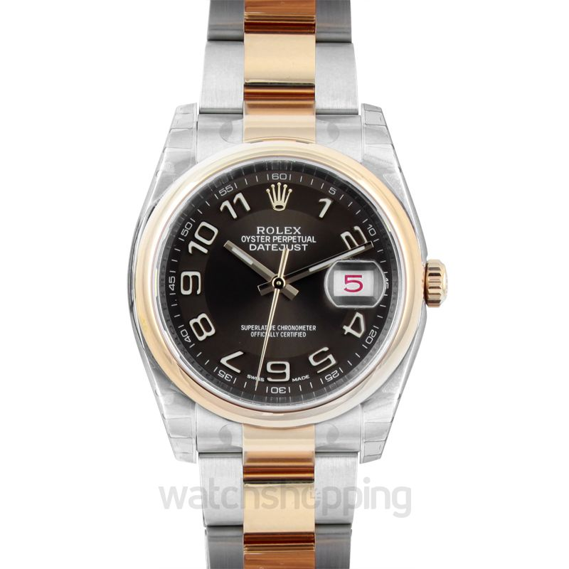 Rolex Datejust Automatic Brown Dial Men's Watch
