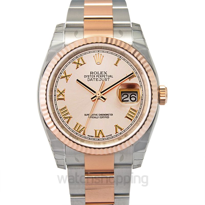 Rolex Datejust 36 Rolesor Everose Fluted / Oyster / Pink Roman