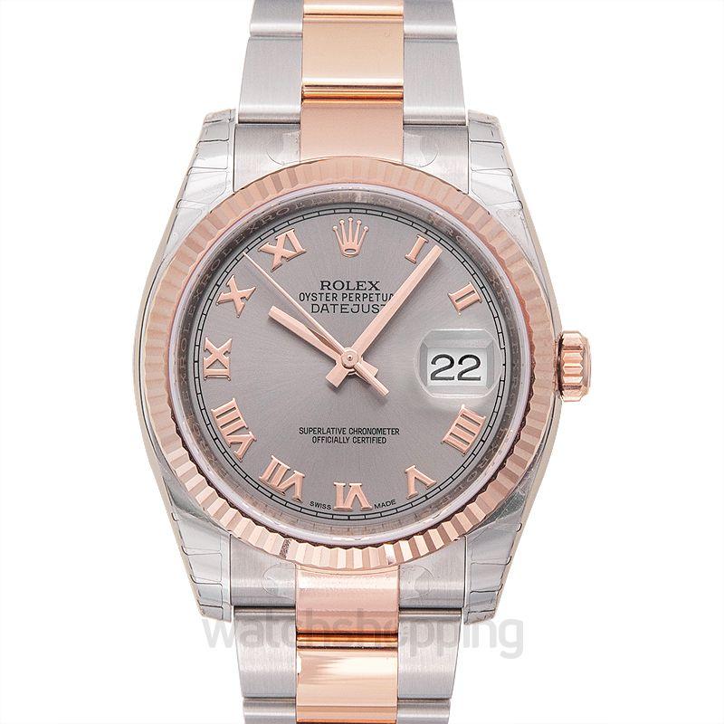 Rolex Datejust 36 Rolesor Everose Fluted / Oyster / Steel Roman