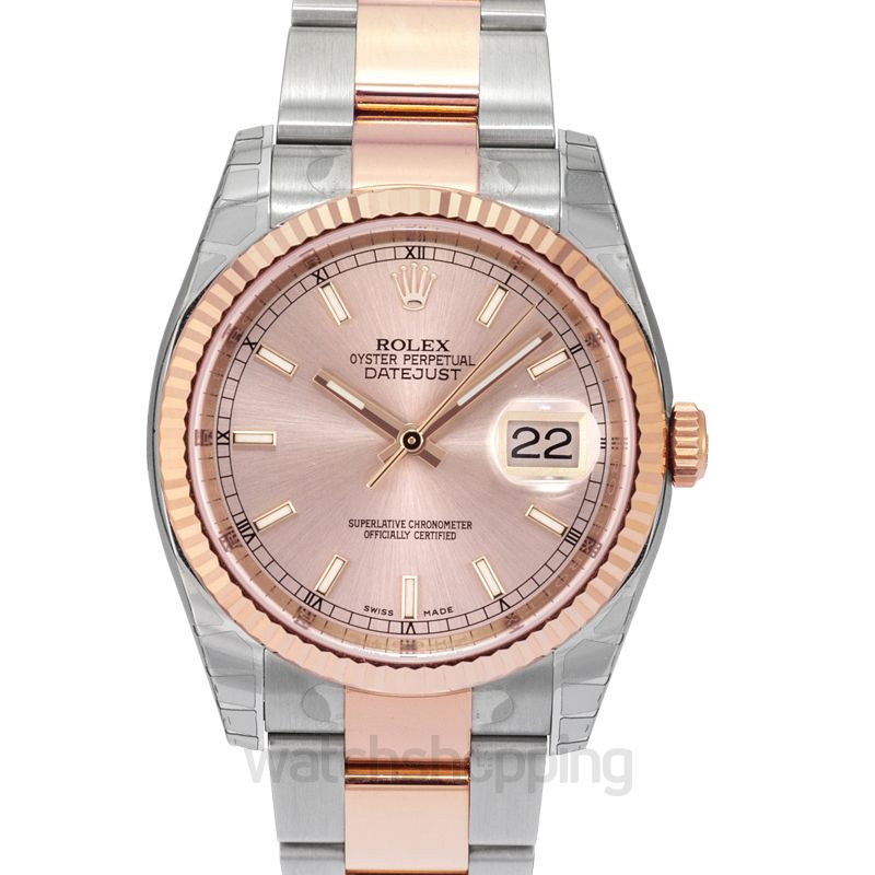 Rolex Datejust 36 Rolesor Everose Fluted / Oyster / Pink