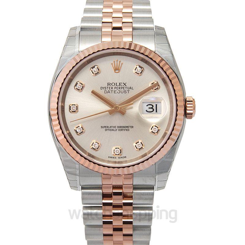 Rolex Datejust Ivory 18k Rose Gold/Steel G Jubilee 36mm