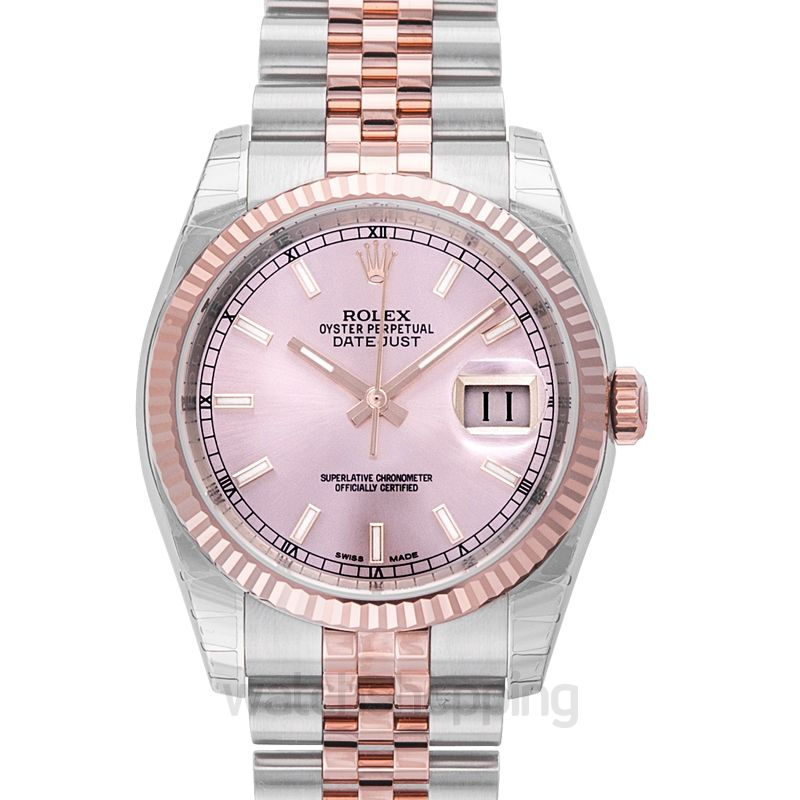 Rolex Datejust 36 Rolesor Everose Fluted / Jubilee / Pink